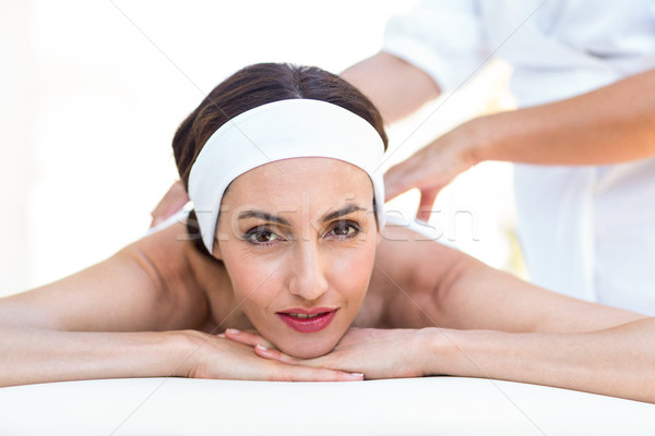 Calm woman receiving reiki treatment Stock photo © wavebreak_media