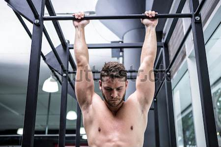 Gespierd man crossfit gymnasium gezondheid Stockfoto © wavebreak_media