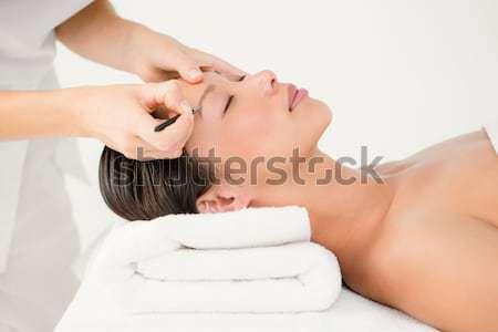 女性 患者 眉 健康 作業 ストックフォト © wavebreak_media