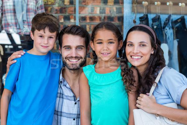 Portrait of a happy family having fun in the mall Stock photo © wavebreak_media
