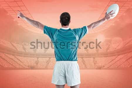 Rugby player gesturing with hands Stock photo © wavebreak_media