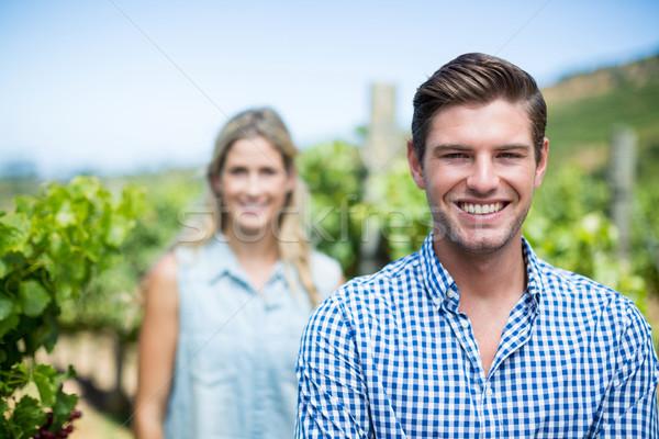 Portrait of couple at vineyard Stock photo © wavebreak_media