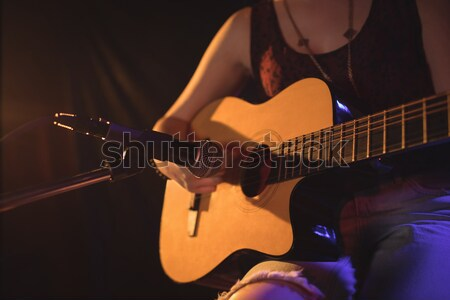Performer singing while holding guitar at nightclub Stock photo © wavebreak_media