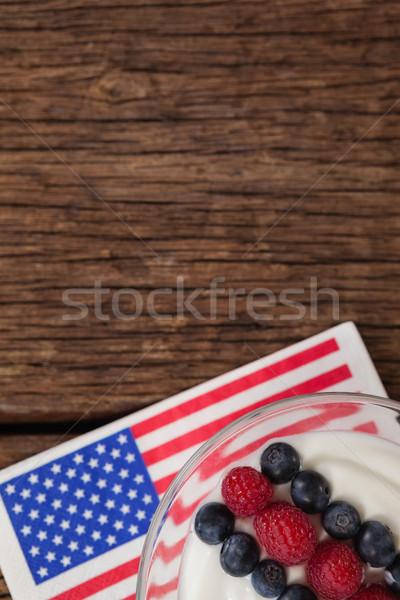 Vruchten ijs houten tafel vlag Stockfoto © wavebreak_media