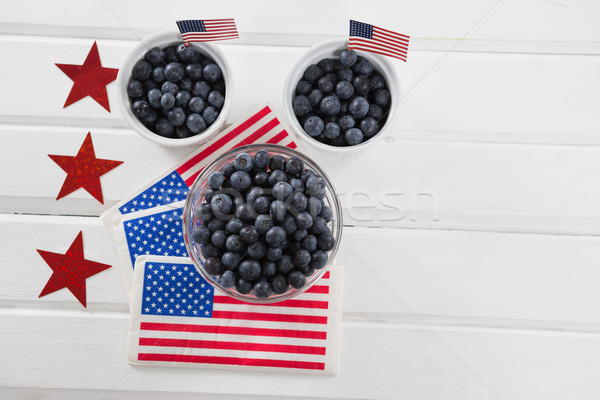 Black berries decorated with 4th july theme Stock photo © wavebreak_media