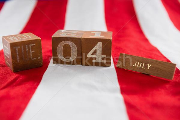 дата блоки американский флаг фон Сток-фото © wavebreak_media