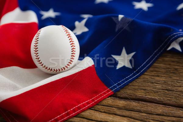 Béisbol bandera de Estados Unidos primer plano deporte mesa azul Foto stock © wavebreak_media