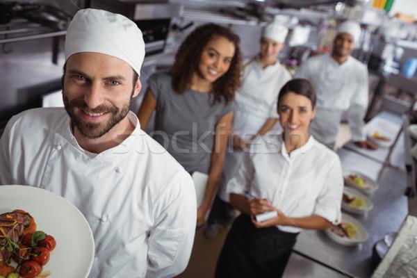 餐廳 經理 廚房 員工 肖像 商業 商業照片 © wavebreak_media