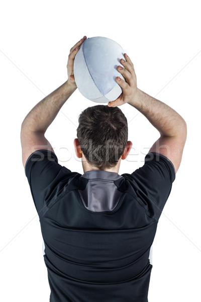 Powrót rugby gracz piłka biały Zdjęcia stock © wavebreak_media