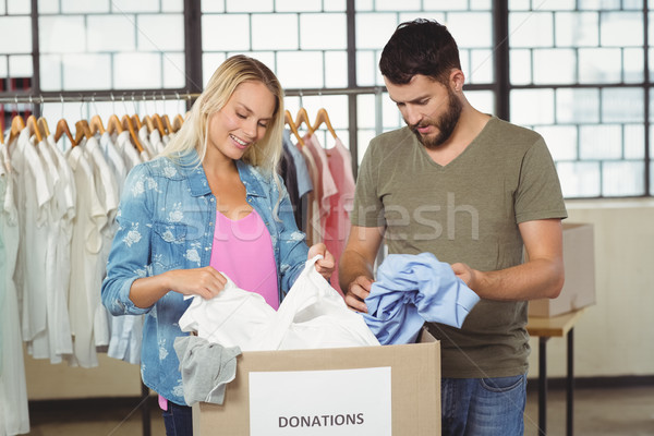 ボランティア 見える 服 寄付 ボックス 創造 ストックフォト © wavebreak_media