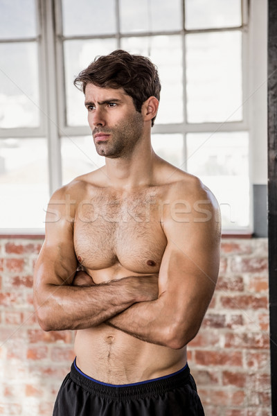 Torse nu homme gymnase fitness santé Photo stock © wavebreak_media