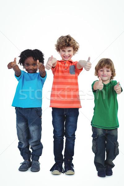 çocuklar ayakta birlikte beyaz mutlu Stok fotoğraf © wavebreak_media