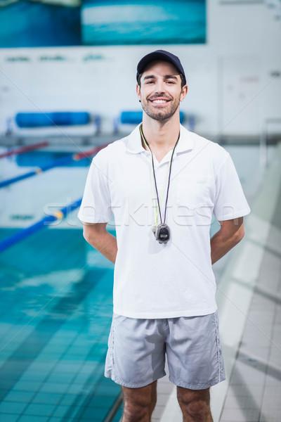 Uygun ayakta havuz su adam Stok fotoğraf © wavebreak_media