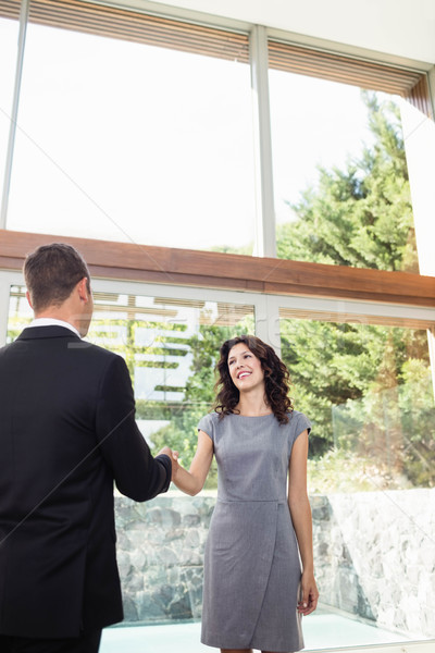 Young woman ready to buy new house Stock photo © wavebreak_media