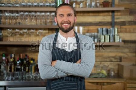 快樂 男子 常設 對付 酒吧 肖像 商業照片 © wavebreak_media
