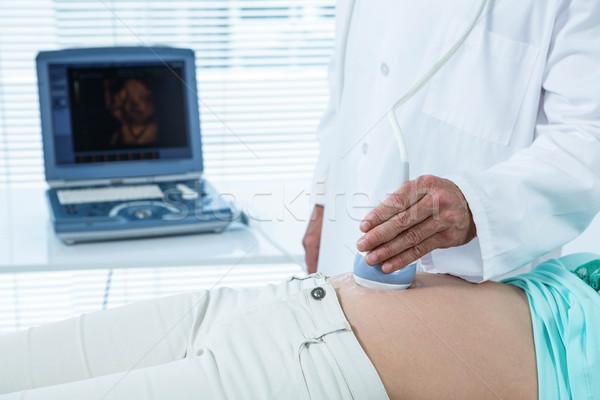 Terhes nő ultrahang teszt kórház nő orvos Stock fotó © wavebreak_media