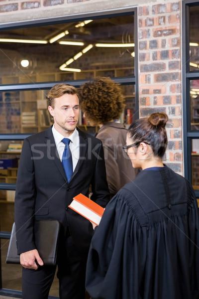 Rechtsanwalt Geschäftsmann Büro Mann Bildung Gerechtigkeit Stock foto © wavebreak_media