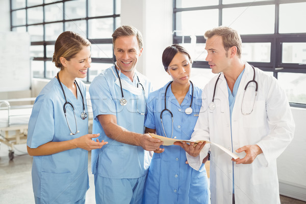 Medical team interacting with each other Stock photo © wavebreak_media