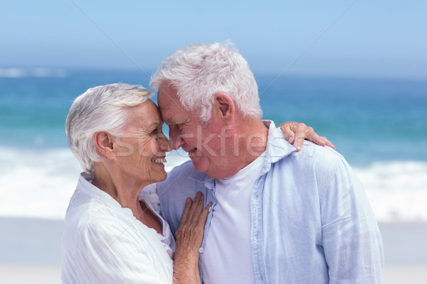Senior couple smiling and embracing Stock photo © wavebreak_media