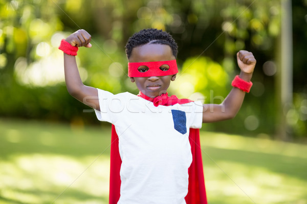 Young child is dressing up as a hero Stock photo © wavebreak_media