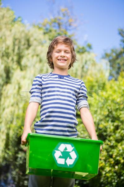 Vista reciclaje cuadro Foto stock © wavebreak_media