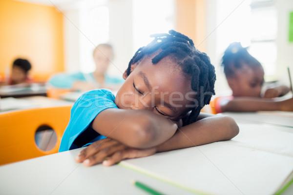 Düşen büro sınıf çocuk defter Stok fotoğraf © wavebreak_media