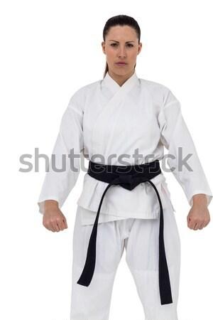 Front view of karate fighter meditating Stock photo © wavebreak_media