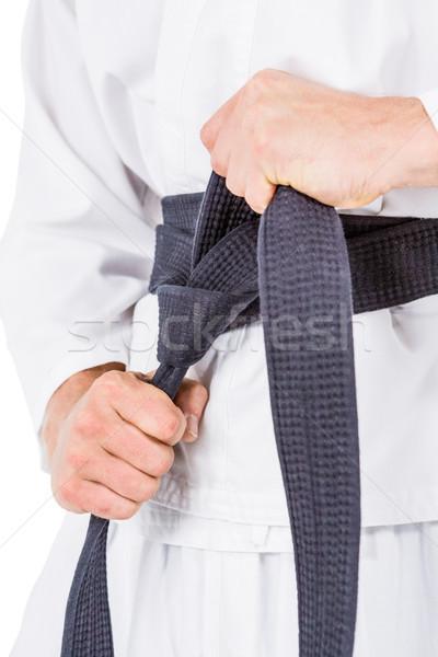 Combattente karate cintura primo piano bianco mano Foto d'archivio © wavebreak_media