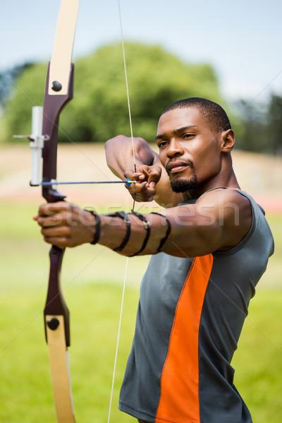 спортсмена стрельба из лука стадион спортивных черный Сток-фото © wavebreak_media