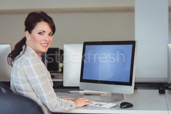 Mature student using computer Stock photo © wavebreak_media