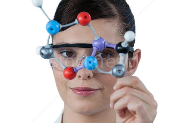 Retrato femenino científico molecular modelo Foto stock © wavebreak_media