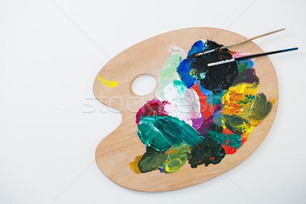 Aquarel verf palet onderwijs schilderij kleur Stockfoto © wavebreak_media
