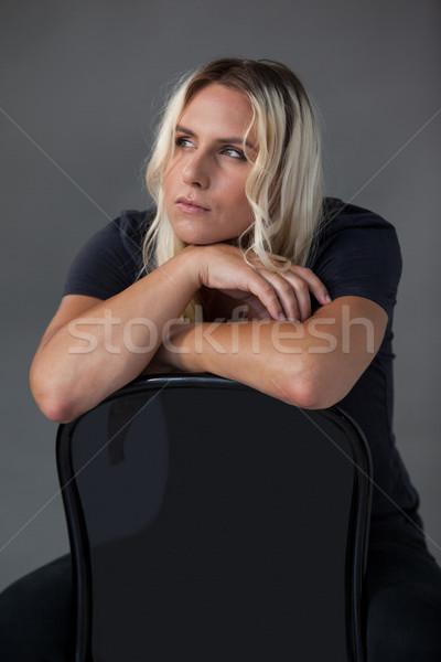 トランスジェンダー 女性 椅子 電話 ストックフォト © wavebreak_media