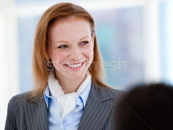 Portre işkadını ayakta modern bina ofis gülümseme Stok fotoğraf © wavebreak_media