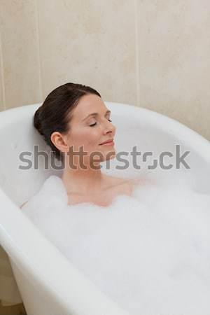 Derűs vonzó nő habfürdő otthon nő szexi Stock fotó © wavebreak_media