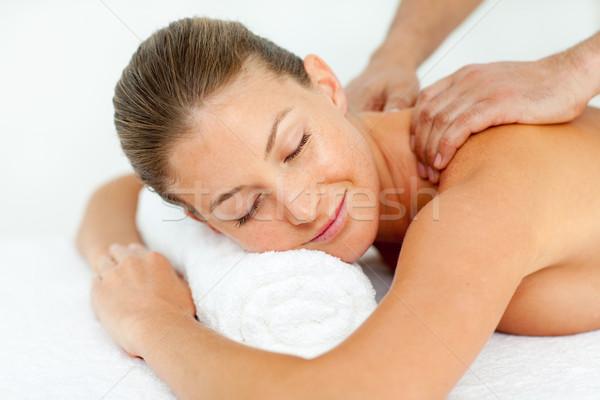 Tranquillo donna massaggio spa centro Foto d'archivio © wavebreak_media