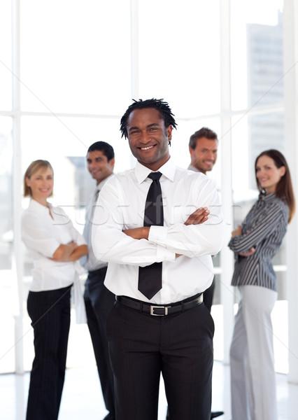 Portre erkek lider takım iş işadamı Stok fotoğraf © wavebreak_media