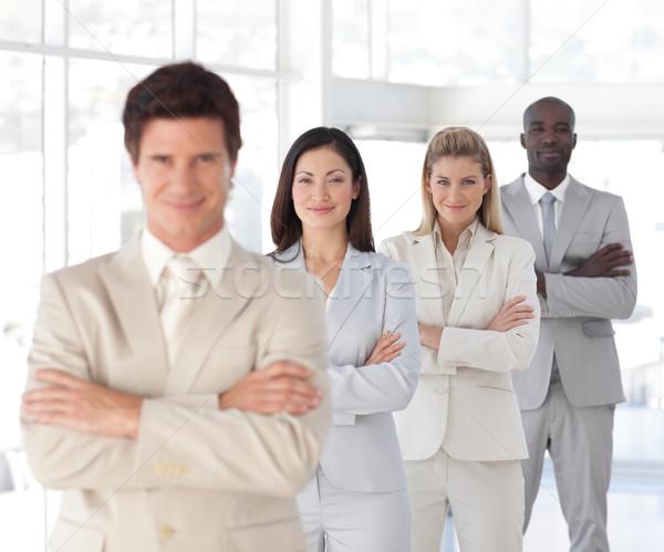 Business team showing Spirit and expressing Positivity Stock photo © wavebreak_media