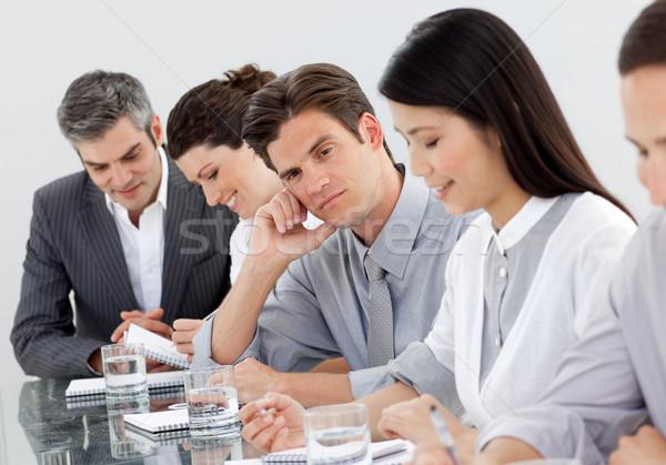 Entediado caucasiano empresário apresentação colegas reunião Foto stock © wavebreak_media