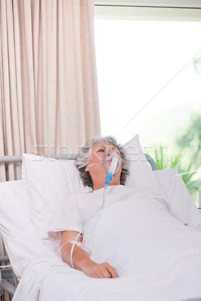 Senior mulher saúde máscara feminino pessoa Foto stock © wavebreak_media