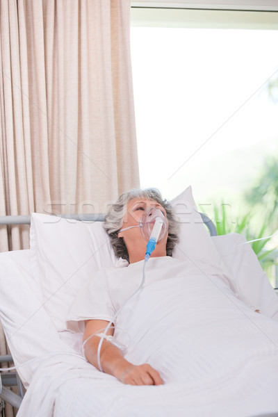 Senior woman with her respirator Stock photo © wavebreak_media
