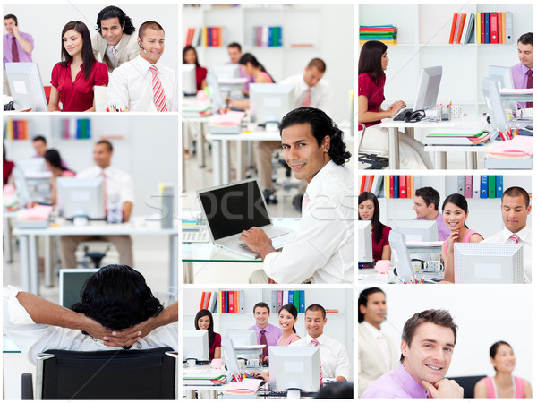 Collage of business people at work Stock photo © wavebreak_media