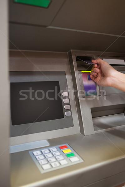 Ritratto mano carta di credito atm banca corporate Foto d'archivio © wavebreak_media