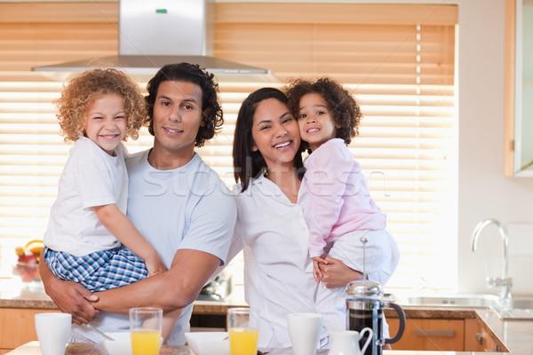 молодые семьи завтрак кухне вместе продовольствие Сток-фото © wavebreak_media