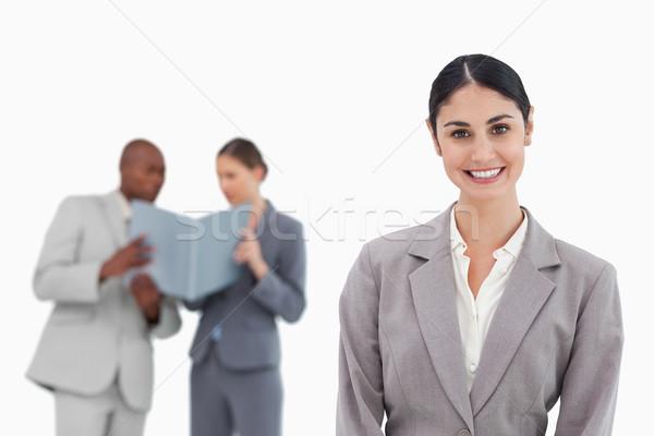 Mosolyog elarusítónő munkatársak mögött fehér üzletember Stock fotó © wavebreak_media