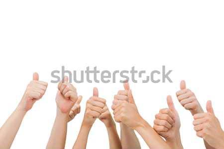 белый стороны друзей успех поддержки руки Сток-фото © wavebreak_media