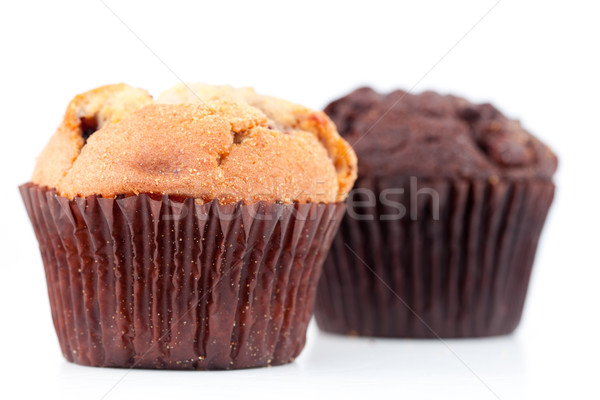 Vers gebakken muffins kant witte Stockfoto © wavebreak_media