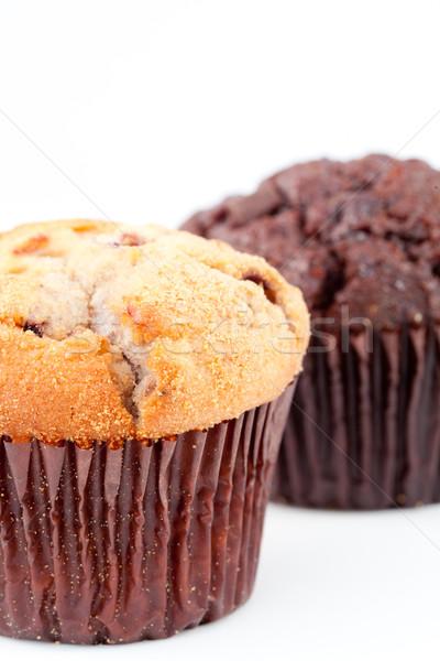 Twee vers gebakken muffin wazig Stockfoto © wavebreak_media