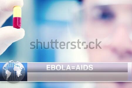Közelkép drót kék foltok szerver adatközpont Stock fotó © wavebreak_media