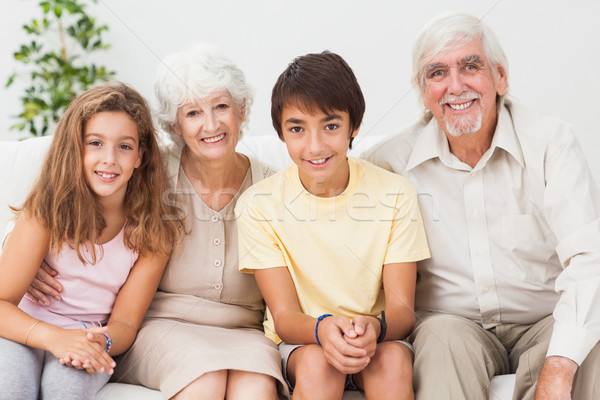дедушка и бабушка внучата счастливым дома любви человека Сток-фото © wavebreak_media